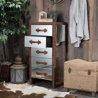 Christopher Knight Home Evelyn Mirrored Five-Drawer Chest