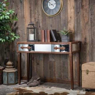 Christopher Knight Home Evelyn Mirrored Two-Drawer Console Table