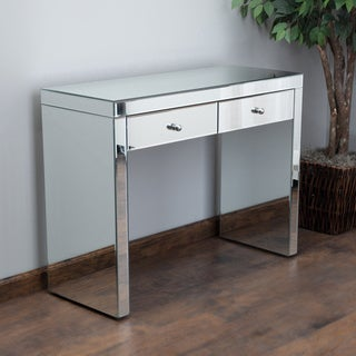 Roxie Mirrored Two-Drawer Console Table by Christopher Knight Home