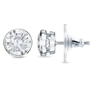 New Auriya 14k Gold 3/4ct TDW Diamond Stud Earrings (H-I, SI1-SI2)
