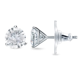 New Auriya 14k Gold 1 2/5ct TDW Certified 3-prong Diamond Stud Earrings (H-I, SI1-SI2)