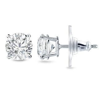 New Auriya 14k Gold 1 2/5ct TDW 4-prong Diamond Stud Earrings (H-I, SI1-SI2)