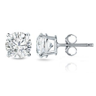Auriya 14k Gold 2ct TDW Certified 4-prong Diamond Stud Earrings (H-I, SI1-SI2)