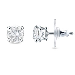 New Auriya 14k Gold 1/2ct TDW Round 4-prong Diamond Stud Earrings (H-I, SI1-SI2)