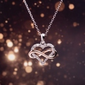 Infinity Sterling Silver Diamond Necklaces Clearance
