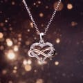 Infinity Brass Diamond Necklaces