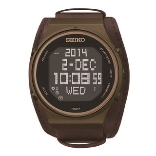 Seiko Men's STP019 World Time Digital 39 Cities 5 Daily Alarm Watch