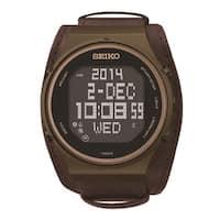 Seiko Men's  World Time Digital 39 Cities 5 Daily Alarm Watch