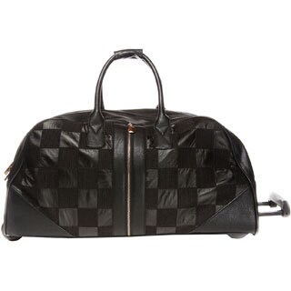 Hang Accessories Black Quilted Weekender Rolling Upright Duffel Bag
