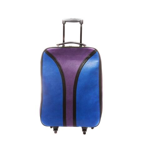Hang Accessories Gemtone Blue/ Purple Spinner Weekender Upright