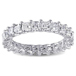 Miadora Signature Collection 14k White Gold 3 1/4ct TDW Asscher Cut Diamond Ring (G-H, VS1-VS2)