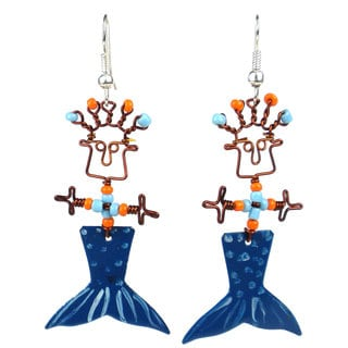 Dancing Mermaid Girl Earrings (Kenya)