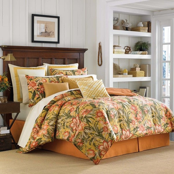 Tommy Bahama Tropical Lily 4 Piece Comforter Set Free