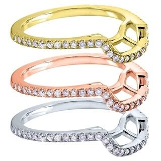Annello by Kobelli 14k Gold 1/4ct TDW Curved Diamond Wedding Band (G-H, I1-I2)