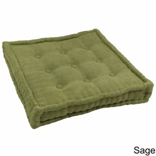 Blazing Needles Microsuede 25-inch Square Corded Floor Pillow with Button Tufts