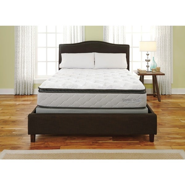 sierra sleep mount whitney pillow top twin size mattress or mattress set free shipping today. Black Bedroom Furniture Sets. Home Design Ideas