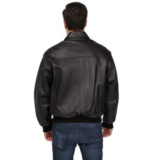Excelled Men's Big and Tall 'A-2' Classic Leather Bomber Jacket
