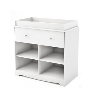 White Finished Changing Table