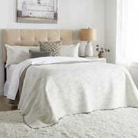 Skyline Furniture Tufted Headboard in Micro-Suede Oatmeal