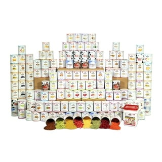 Augason Farms Emergency Food Storage Premium 4 Person 1 Year Kit