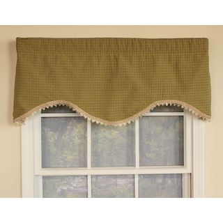 Speckled Green Cornice Window Valance