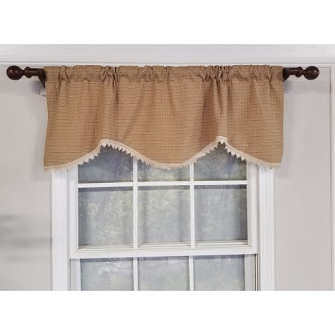 RLF Home Speckled Cornice Window Valance - Tan