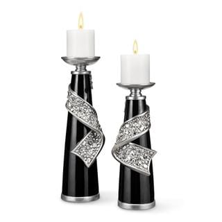 12-inch/ 16-inch Stellaire Candleholders (Set of 2)