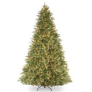 9-foot Feel Real Tiffany Fir Hinged Tree with 1050 Clear Lights