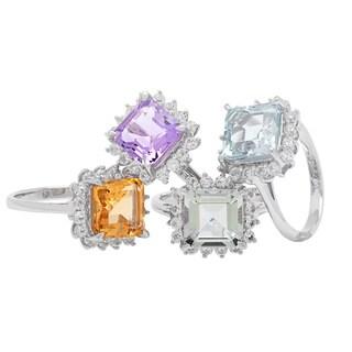 Sterling Silver Gemstones Ring
