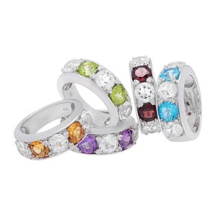 Sterling Silver Gemstones Ring