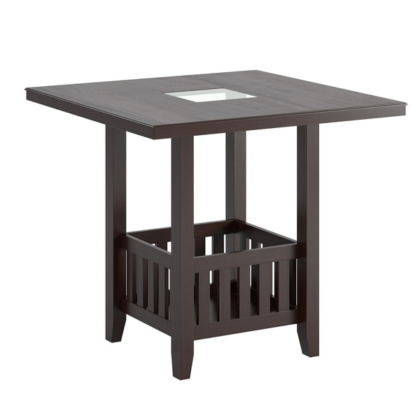 CorLiving Bistro Counter Height Dark Cocoa Dining Table  : CorLiving Bistro Counter Height Dark Cocoa Dining Table with Storage 4c9698a7 c3f4 483f 9c93 ac11c322a932600 from www.overstock.com size 600 x 600 jpeg 10kB