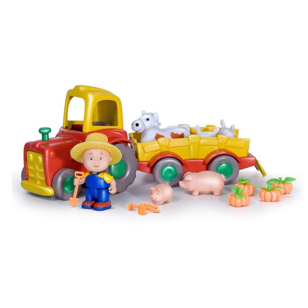 Imports Dragon Caillou Pull Back N Go Tractor with Pets