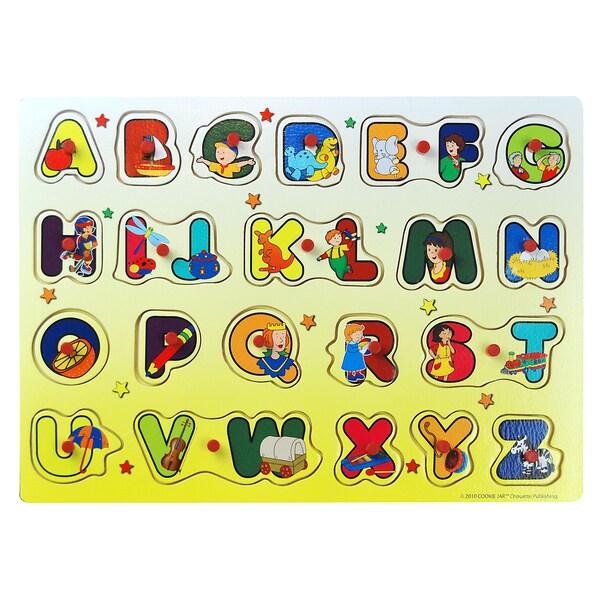 Imports Dragon Caillou English Alphabet Puzzle