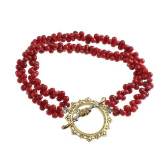 Michael Valitutti Double-strand Red Coral Bracelet