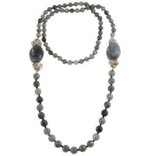Michael Valitutti Stering Silver Labradorite Bead Necklace