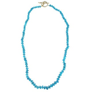 Michael Valitutti Neon Apatite Knotted Necklace with Toggle
