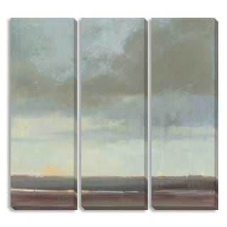 Gallery Direct Kim Coulter's 'Viridian Sky II' Triptych Art