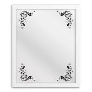 Gallery Direct Floral Corner Framed Hanging Mirror Art