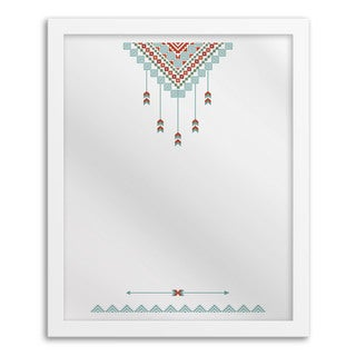 Gallery Direct Tribal Aqua Hanging Mirror Wall Art