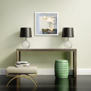 Gallery Direct Aqua Chevron Mirror Art