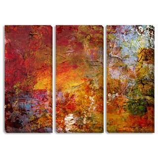 Gallery Direct Fall Glow Triptych Art