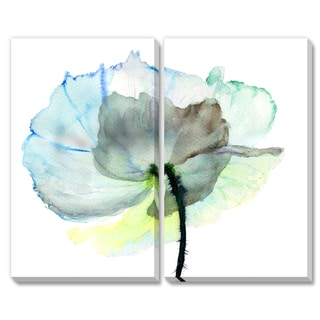 Gallery Direct Regina Jersova 'Abstract Watercolor Flower' Diptych Art