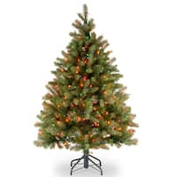 4.5-foot Feel-Real Down Swept Douglas Fir Hinged Tree with 450 Multi Lights