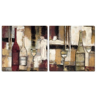 Gallery Direct Jane Bellows 'The Good Life III and IV' Canvas Art Set
