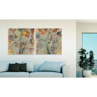Jane Bellows 'Wishful Thinking I' and 'II' Canvas Art Set