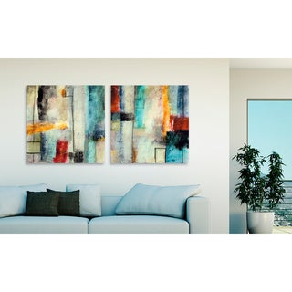 "Gallery Direct Jane Bellows' ""Impulse I"" and ""II"" Canvas Art Set"