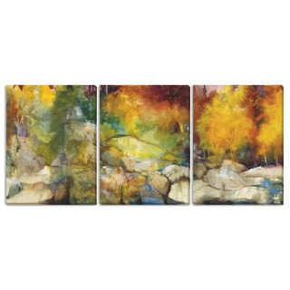 Gallery Direct Sylvia Angeli's 'Mountain High II' 'III' and 'IV' 3-piece Canvas Set