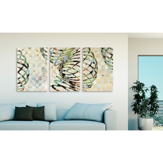 "Gallery Direct Judy Paul's ""Twist I"", ""II"" and ""III"" Three Piece Canvas Set"