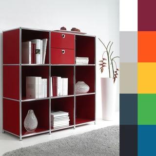 SYSTEM4 Prestigious Elite Steel Side Board Media Bookcase