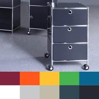 Three Drawer Filing Cabinet on Wheels